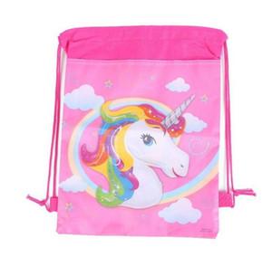 unicorno adorabile borse coulisse bambini cartoni animati zaini tema unicorno stringa borse bambini ragazza animale Drawstring Bag