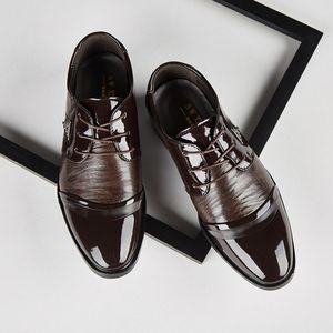 scarpe da sposa uomo abito da uomo scarpe nere formale elegante scarpe da uomo ufficio vestito marrone coiffeur zapatos de vestir hombre cuero herenschoenen