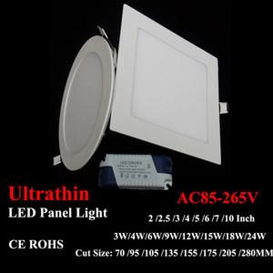 "LED Panel Light UltraThin Downlight SMD2835 12W 15W 18W 24W AC85-265V مصباح السقف المستقيم 4 "" 6 "" Inch Lighting with CE driver"