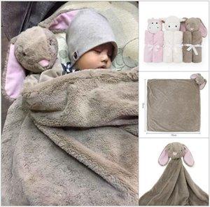 2018 Bambini INS di velluto di cristallo orso di coniglio Coperte elefante Coperte Inverno Caldo neonato Felpa bambino cartoon lenzuolo Sacco a pelo