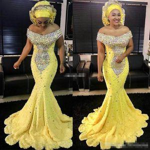 . Giallo donne abiti da sera formale sirena lusso colorato bordare maniche in pizzo 2017 abiti da cerimonia plus size madre della sposa dresse