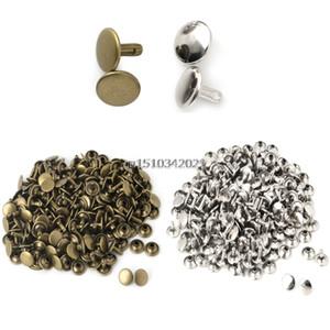 100 cps / setx face capuchon rivet tubulaire en cuir en cuir artisanat réparations goujons punk pic décor