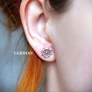 Tardoo Asymmetric Anchor 925 Sterling Silver Stud Earrings Mignon Simple Style Party Jewelry pour femmes et filles Y18110110