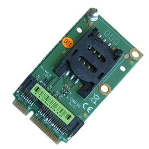 Mini PCIe Extender SIM Card Socket para 3G / 4G Modem e interface Mini-PCIe, cartão de extensão para obter o slot SIM na placa-mãe