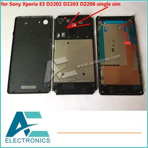Único sim full case capa case para sony xperia e3 d2202 d2203 d2206 moldura tampa traseira moldura chassic frete grátis