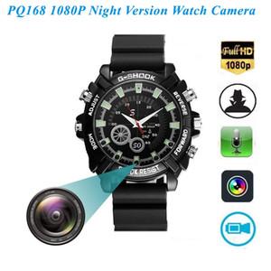 reloj de la cámara resistente al agua 32 GB de memoria de alta definición de infrarrojos de visión nocturna cámara 1080P del reloj DVR HD de grabación de voz independiente Cam PQ168