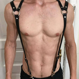 New Belt Uomo Punk Black Harness Pelle Uomo Gothic Harajuku Leather League Body Sword Belt GPD8616