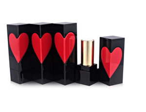 Forma 12,1 millimetri Cuore Rosso Make Up Vuoto Lip Balm tubo del rossetto Batom Bottiglie fai da te Lip Gloss imballaggi di carta