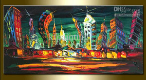 100% handpainted knife oil painting Leonid Afremov canvas art cityscape wall art on canvas handmade home decoration