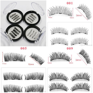 3D magnetics false lashes ciglia magnetiche con 3 magneti Thick natural long Eye Makeup Eyelashes Extension handmade falso ciglia