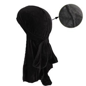 Musulman Hommes Femmes Bandana Turban Chapeau Perruques velours doo Durags cap de chimio cap Biker Chapeaux Bandeau Accessoires De Cheveux Pirate