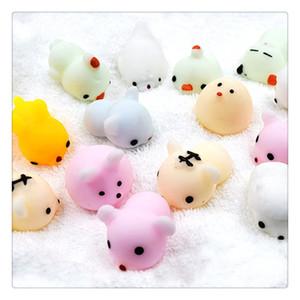 Squishies animali Mochi Squeeze Toys Soft Squishy Stress Giocattoli animali Kawaii Animal Squishy Mini Slow Rising Seal Rabbit Anatroccolo Tigre