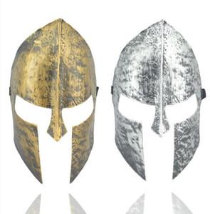 Guerreiro espartano máscara cavaleiro herói veneziano mascarada mascarada bola capacete máscara completa do dia das bruxas fancy dress partido do vintage máscaras de prata de ouro