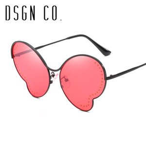 DSGN CO. 2018 Butterfly Fashion Sunglasses For Women Trend Woman Sun Glasses 6 Color UV400
