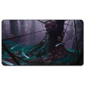 Placa de Jogos de Cartas Mágicas Inkmoth Nexus arte cinco manas dual land playmat Personalizado Reunir Big playmats mousepad