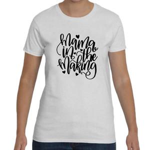 Die T-Stück-Mutter der Frauen in der Art und Weise Crewneck T-Shirt lustiges Frauen-Schwangerschafts-Mitteilungs-T-Stück Hipster-Mutter-Geschenk-T-Shirt 2018 neues T-Stück