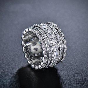 Fashion Top Clear Zircon Anelli per le donne di lusso femminile CZ Matrimoni Anelli Party New Fashion Jewelry Girl Best Gift