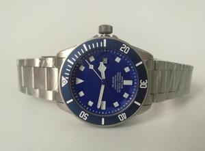 Top de Alta Qualidade Relógio de Marca 42mm 25600 TB Azul Mostrador Mecânico Automático de Aço Inoxidável Excelente Mens Watch Relógios