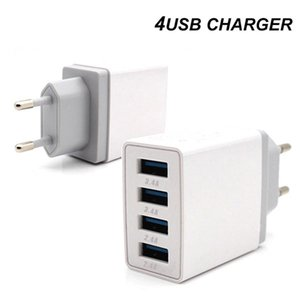 4 порта USB Quick Charge 3.0 Travel Charger Charing QC3. 0 настенное зарядное устройство EU Plug