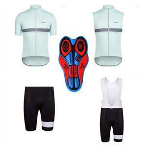 RAPHA équipe manches courtes shorts en jersey (bavette) sans manches gilet définit Nouveaux vêtements de vélo respirant vêtements de cyclisme pour hommes