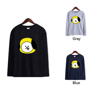 New Hot Cute Cartoon Print T-Shirt Size 2XS-4XL Multiple Colors Loose Casual Sports Couple Large Size Long Sleeve Top