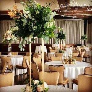 Nuevo estilo de boda Metal de color oro florero de flor de flores soporte para la decoración de la pieza central de boda 10 PCS / Lotes