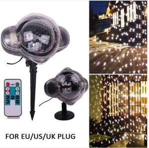 매상!!! LED 눈송이 프로젝터 크리스마스 움직이는 레이저 프로젝션 야외 실내 빛