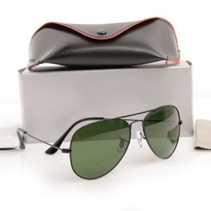 Marka Yeni pilot güneş gözlükleri 58mm Mans güneş gözlüğü Womans gözlük Cam Lens güneş gözlüğü Unisex Marka Tasarımcısı Güneş gözlükleri ile Orijinal ...