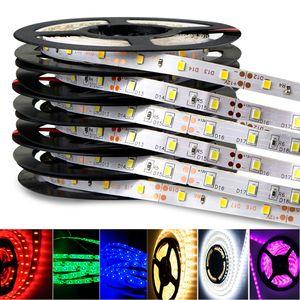 5 m rolo de Decoração SMD5050 3528 5630 IP65 IP20 Levou Tiras Luz Quente Puro Branco Verde Vermelho RGB Tira flexível 300 Leds dc12V