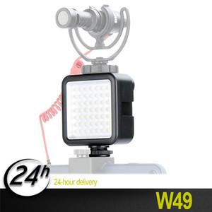 Vendita calda Ulanzi W49 Mini Videocamera LED Video Interlock con 3 Hot Shoe Mount 6000K LED 49pcs Lampadine 60 gradi Angolo di apertura