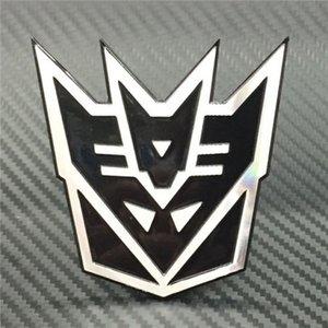 4 اللون 3D المحولات شارة ملصق شعار السيارات سيارة معدنية شعار ذيل صائق