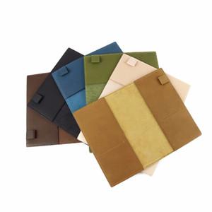 Planificador de cuaderno de cuero genuino 100% cubierta de libro A5 A6 diario dibujo de bocetos Sketchbook equipado refil replacablel