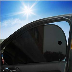 2pcs pare-soleil de fenêtre côté rideau arrière pare-soleil avant / arrière pare-soleil clignote noir couverture ventouse voitures accessoires absorbeur