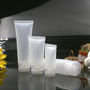15 ml 30 ml 50 ml Şeffaf Plastik Losyon Yumuşak Tüpler Şişeler Buzlu Örnek Konteyner Boş Kozmetik Krem Konteyner LX1174