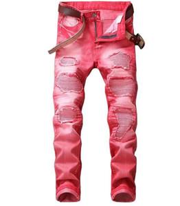 Vente chaude Nouveau Printemps Automne Jeans Jeans Fashion Rue Ripped Beggar Patch Pants Retro Denim Rouge Taille Plus Jeans Gris