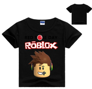 2018 Kindertag Kinder Jungen T-Shirt Mädchen Tops Tees Cartoon fünf Nächte bei Freddy's Tshirt Kinderkleidung ROBLOX RED NOSE Day T-Shirt