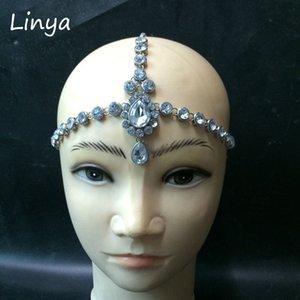 HC-103 Head Chain Diamante head bandeau cheveux bijoux mariage tête nuptiale Bijoux anniversaire boho