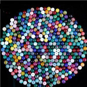 1000 adet / grup 6/8/10 / 12mm Yeni Stil Cam Kedi Göz Boncuk Yuvarlak Spacer Boncuk Aksesuarları Boncuk Kolye Bilezik Takı Için