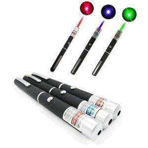 5MW 650nm Red Laser Pen Negro fuerte luz visible Laserpointer, pluma de alta calidad del puntero Laster militar de alta calidad