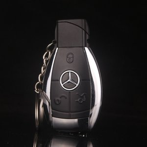 Design de mode Creative Modèle De Voiture Coupe-Vent Briquet Flame Gas key chain Hommes Allume-cigare Clé Boucle Avec LED Flashlight cadeau briquet