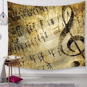 Vintage müzik notu goblen çıta duvar asılı dekorasyon dekoratif bez tapiz yurt odası dekor sanat halı