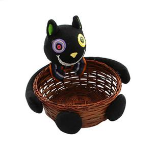 Comercio al por mayor 1 UNID Halloween Brujas Fantasmas Murciélagos Calabazas Canasta de Dulces Partido de Almacenamiento Cesta de Regalo