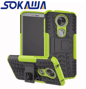 Pour Motorola Moto E6 G6 Plus G6 Jouer E5 Plus E5 Jouer G7 Plus G7 Jouer Un Power Case Armure Hybride Gel Protection de la peau Stand Shell