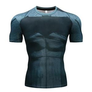Men's T-shirt compression shirt 3D printing T-shirt Men's 2018 new fitness shirtCY011