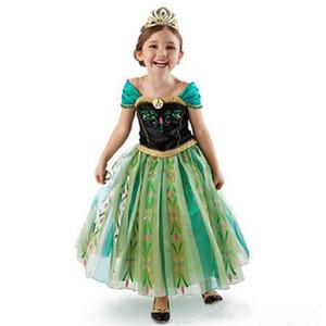 Las Niñas Cosplay Snow Queen princesa vestidos de la historieta viste traje del bebé ropa de los niños Ropa para Niños de Halloween