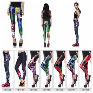 Pantaloni legging da donna Legging Fashion Pantaloni da donna Skinny Matita Pantaloni Fitness Fitness Colorful Leggings 7 Style Polyester