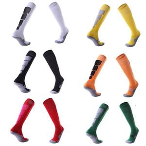 Мужчины Женщины спорт профессиональный футбол носки колено сжатия полотенце носить сопротивление дышащий леггинсы чулок футбол баскетбол носок