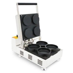 Commercial 110v 220v 4pcs Électrique Mini Gaufre Pizza Maker Machine Comptoir Pizza Gaufre Four Baker Moule En Fer
