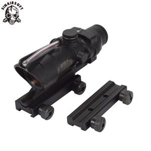 SINAIRSOFT тактический ACOG 1x32 реальный волоконно-оптический красная точка прицел подсветкой прицел охота оптический прицел с 11 + 20 мм железнодорожных горе
