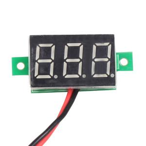 Visualizzazione di tensione del pannello LED rosso indicatore di tensione DC 2.5-30V Digital Mini voltmetro Meter 3-digitale elettrico Instruments